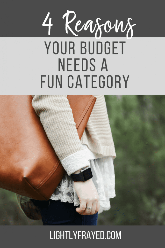 Every budget needs a fun category to allow discretionary spending.