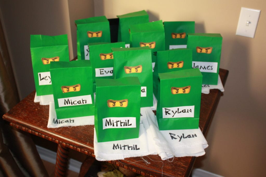 ninjago loot bags