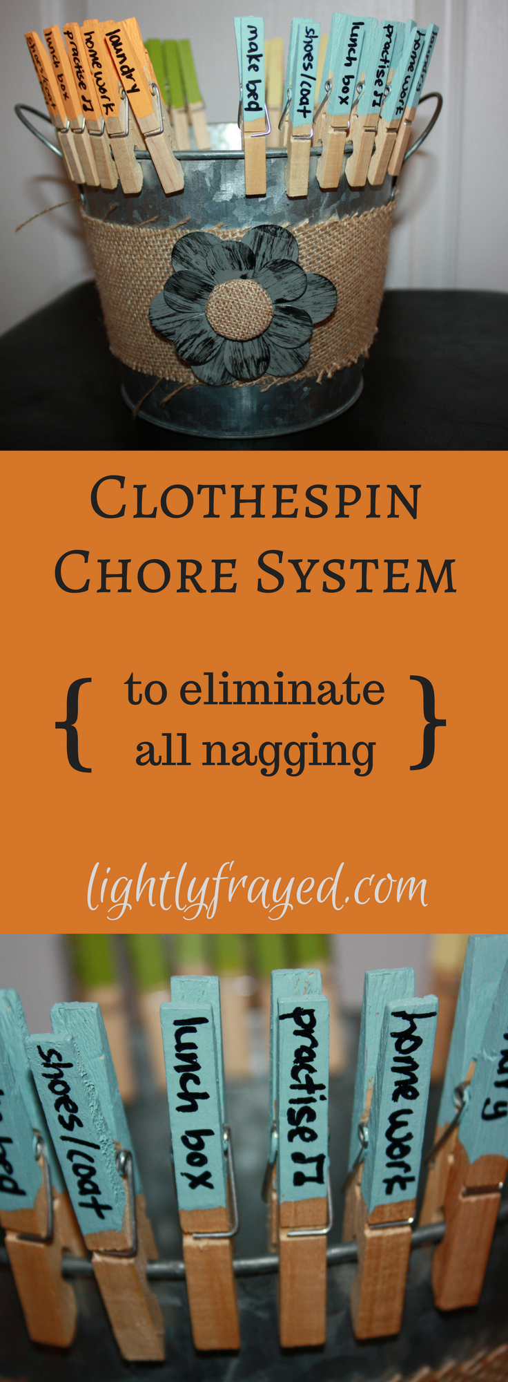 clothespin chore system