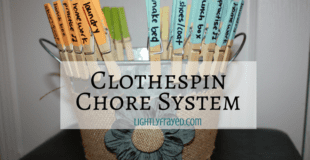 The Clothespin Chore System That is About to Change Our Lives