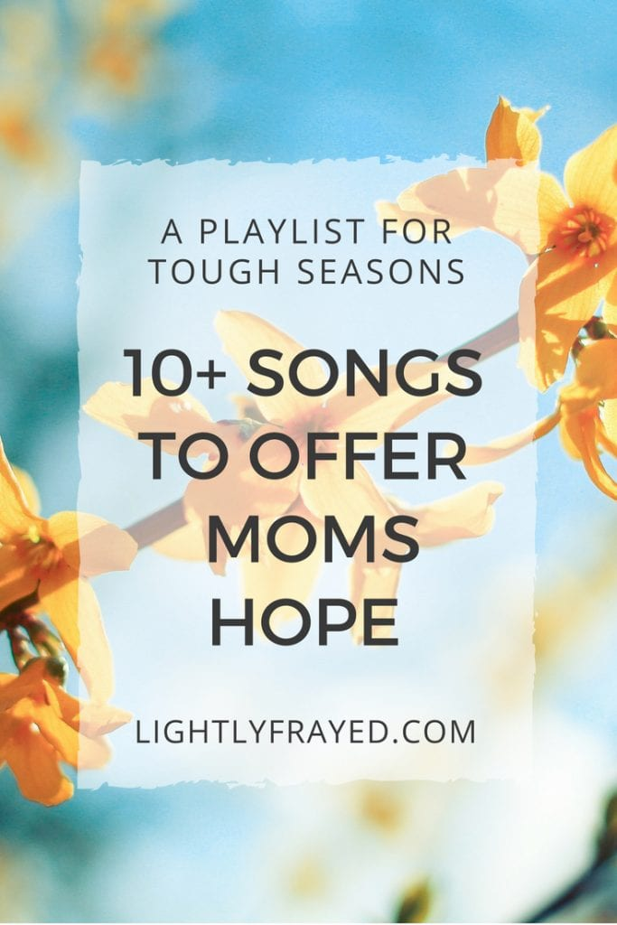 Battling despair? A playlist of Christian music to encourage Moms.