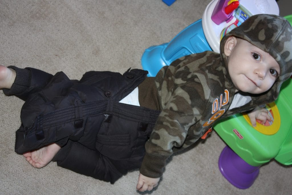 Plan to be a spontaneous Mom - or dress your child in coat-pants in a pinch.