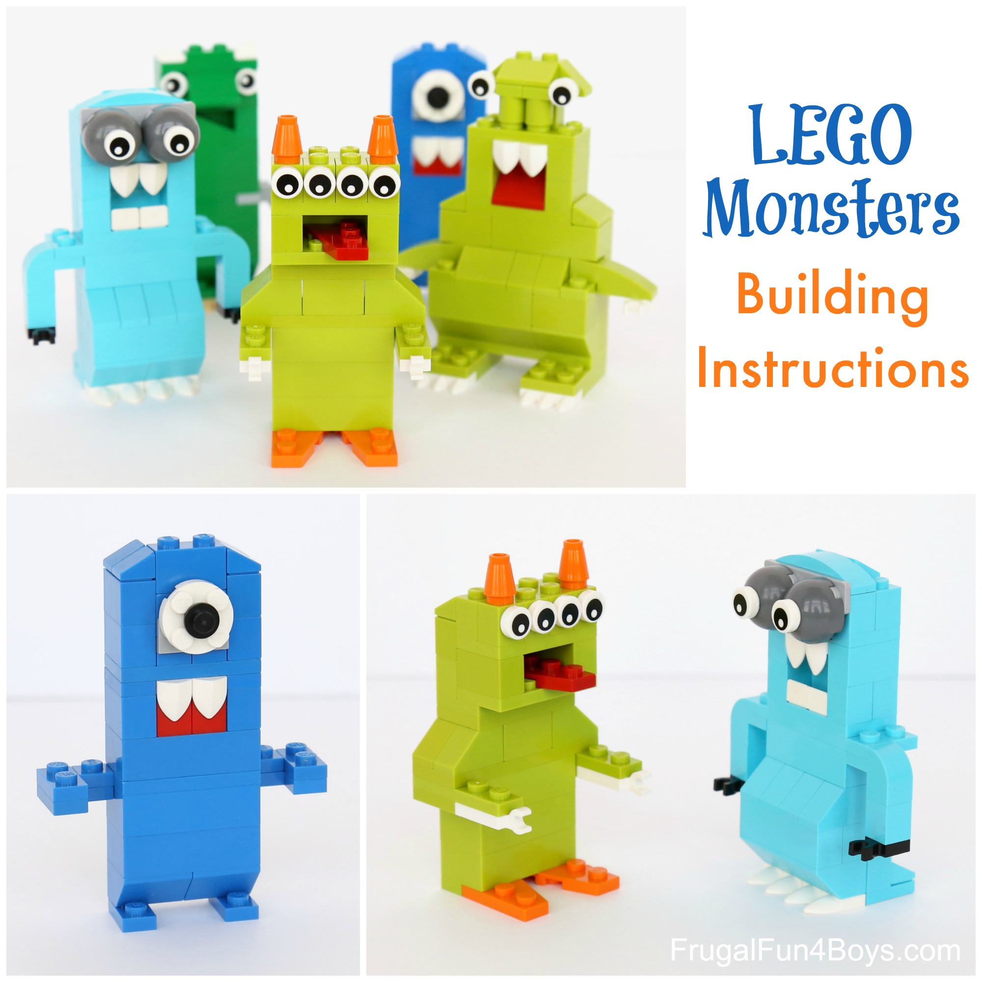 Small Lego monster creations.