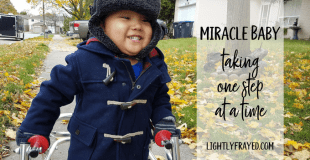 Miracle Baby with Spina Bifida: One Step at a Time