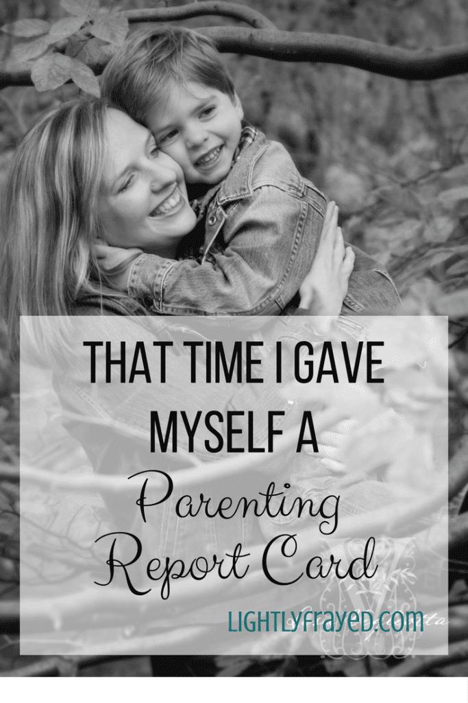 parenting report card