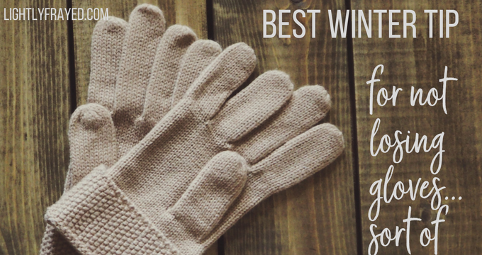 What's a Mom to do when a kid constantly loses their gloves? Come up with a perfect idea. Almost.